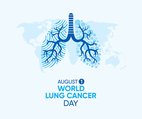 vector illustration of world lung cancer day poster design