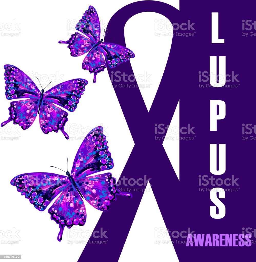 World lupus awareness day vector art illustration