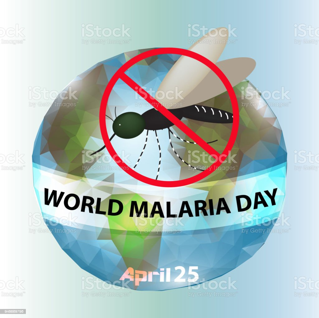 World Malaria Day. Mosquito, planet earth. Infographics. Vector illustration on isolated background. vector art illustration