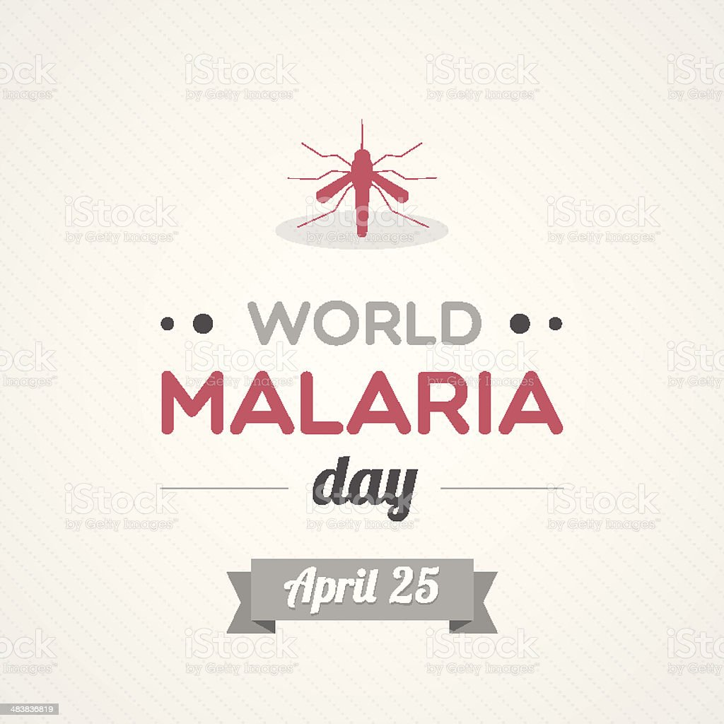 World Malaria Day vector art illustration