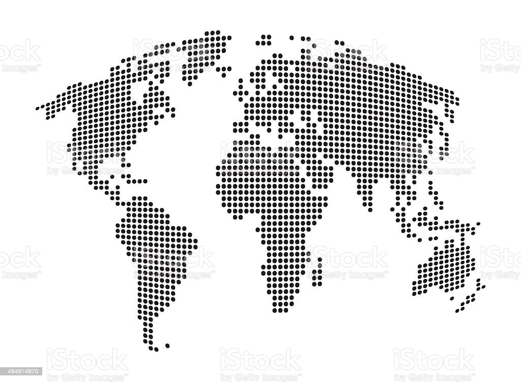 World map abstract dotted vector background stock vector art more world map abstract dotted vector background royalty free world map abstract dotted vector gumiabroncs Image collections