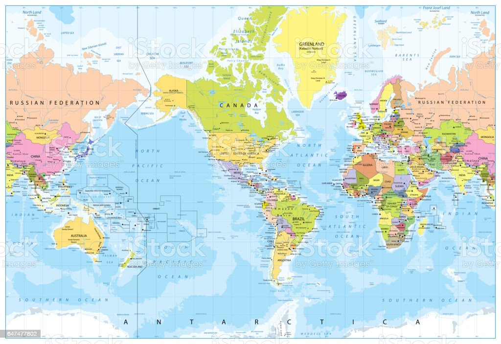 world map america in center bathymetry royalty free world map america in center