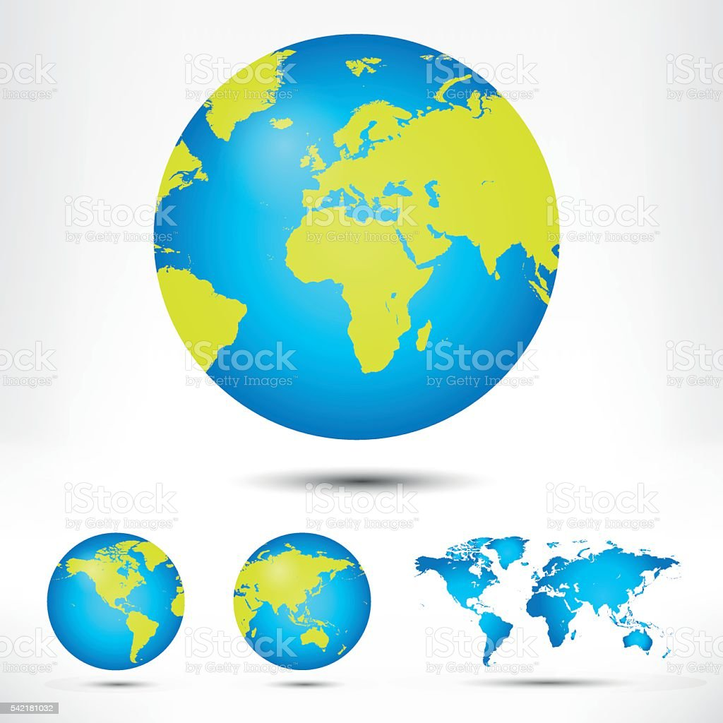 World map and globe detail vector illustration stock vector art world map and globe detail vector illustration royalty free world map and globe detail gumiabroncs Gallery