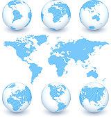 Earth Map and Globe Set