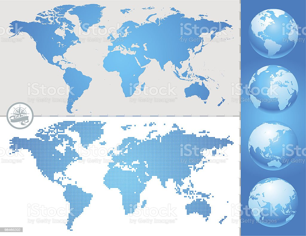 World map and globe royalty-free world map and globe stock vector art & more images of africa