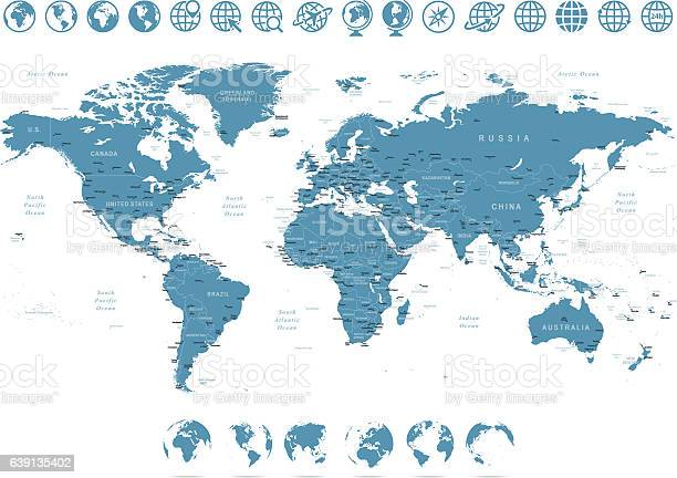 Vector illustration of World map