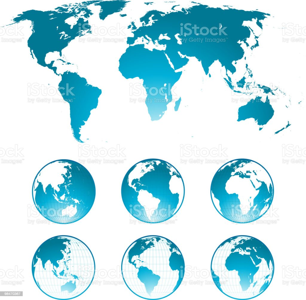 world map and globes royalty-free world map and globes stock vector art & more images of africa
