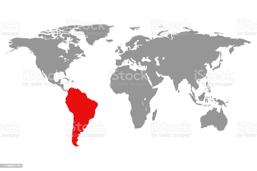 World Map And Highlighted South America Red Color Stock ... on ecuador map in south america, people in south america, places in south america, home in south america, art in south america, colombia map in south america, world map west africa, travel in south america, france in south america, games in south america, blue in south america, japan in south america, germany in south america, world map cambodia and vietnam, world map central america, world map north america, egypt in south america, water in south america, turkey in south america, weather in south america,
