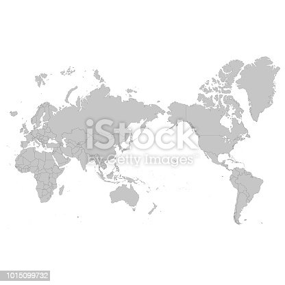 istock World map Asia centered 1015099732