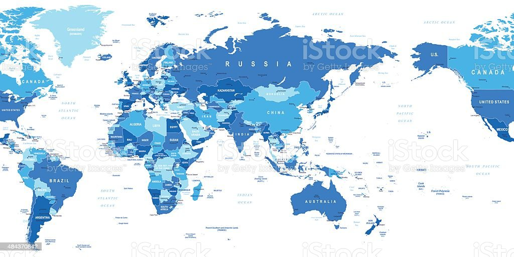 World map asia in center stock vector art more images of 2015 star shape africa asia australia canada world map gumiabroncs Choice Image