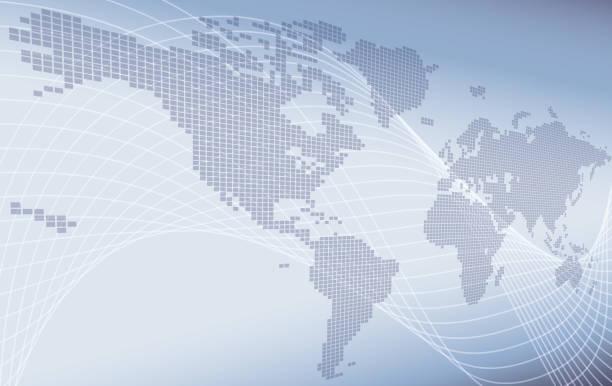 koncepcja tła mapy świata - globalny stock illustrations
