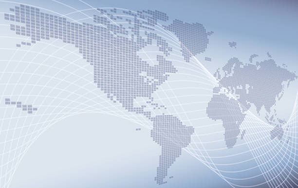 World Map Background Concept A world map background global business or technology abstract concept global stock illustrations