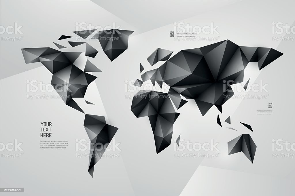 World map background in origami style vector background eps 10 stock world map background in origami style vector background eps 10 royalty free world gumiabroncs Choice Image