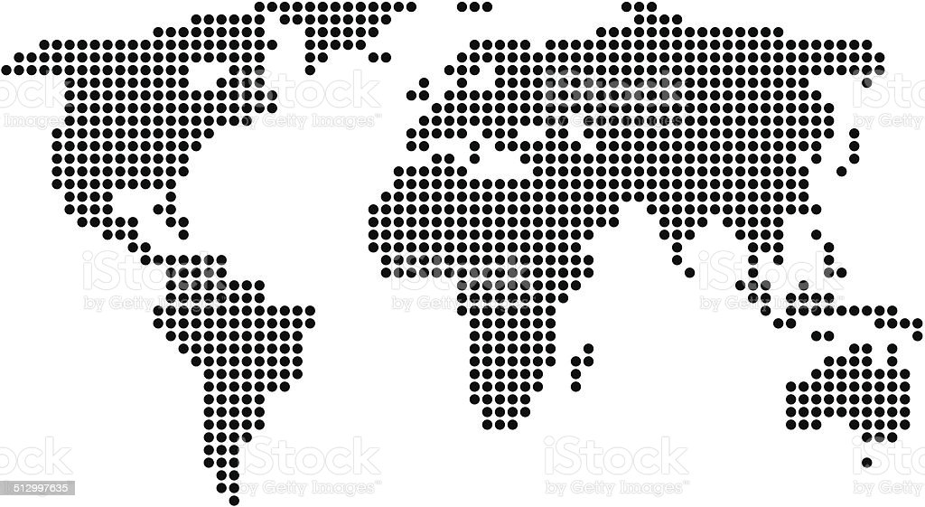 World map black made of dots stock vector art more images of world map black made of dots royalty free world map black made of dots stock gumiabroncs Gallery