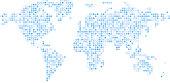 abstract world map backdrop