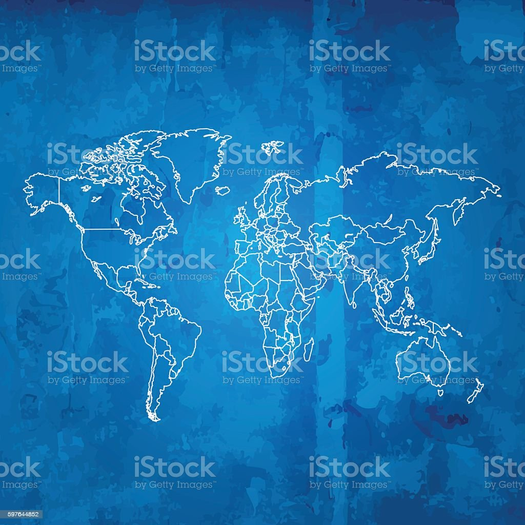 World map blue dirty wooden grunge background stock vector art world map blue dirty wooden grunge background royalty free stock vector art gumiabroncs Choice Image