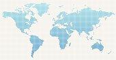 istock World Map Blue Dot Pattern 181569273