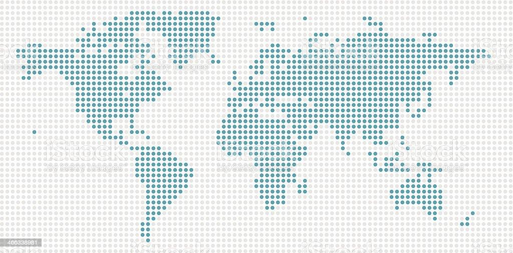 World Map Blue Dots royalty-free stock vector art
