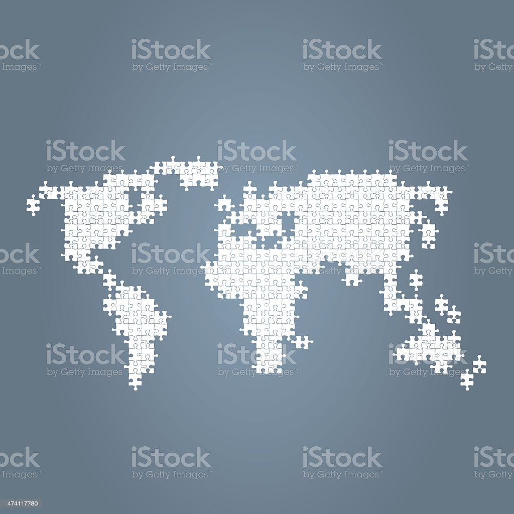 World map blue made of puzzle parts stock vector art 474117780 istock world map blue made of puzzle parts royalty free stock vector art gumiabroncs Images