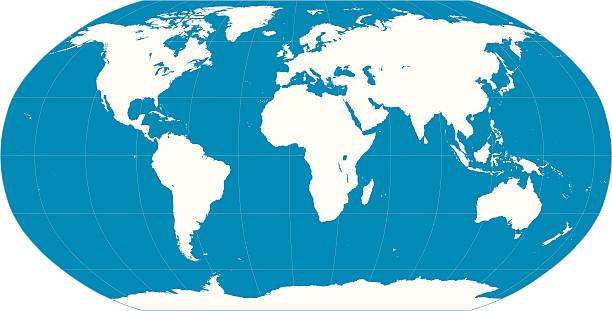 Weltkarte-Blau – Vektorgrafik