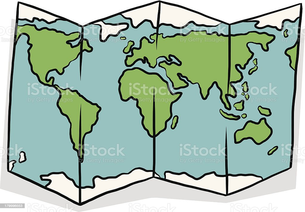 World Map Cartoon Stock Vector Art & More Images Of Africa 179996553