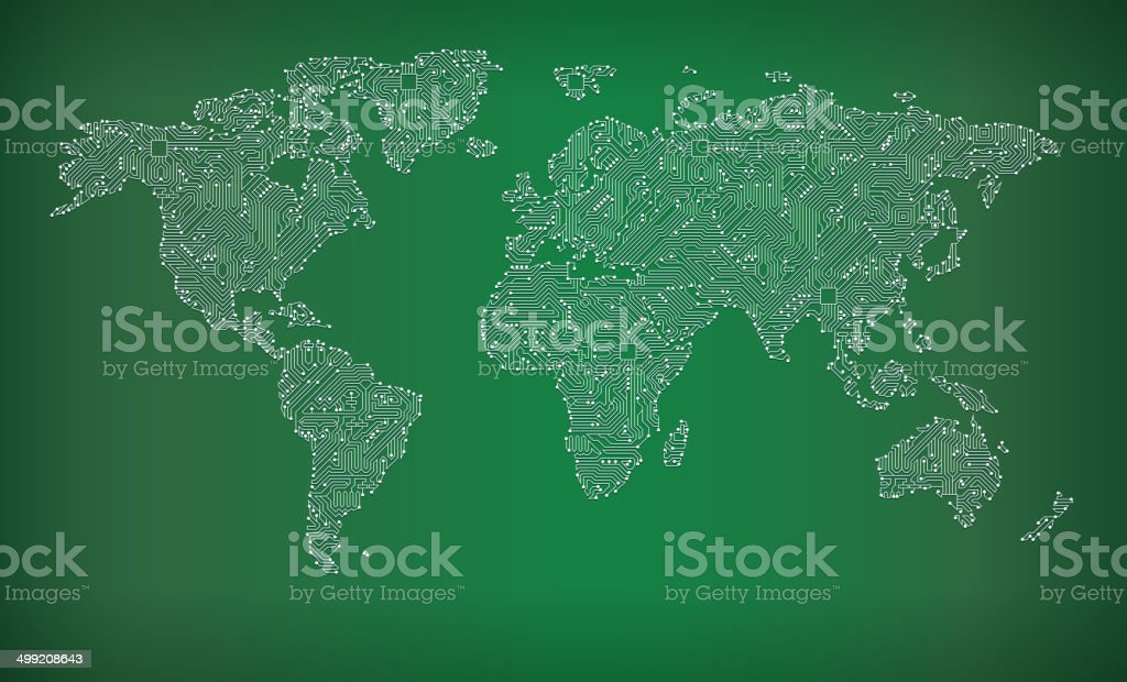 World map circuit board royalty free vector art background stock world map circuit board royalty free vector art background royalty free world map circuit board gumiabroncs Image collections