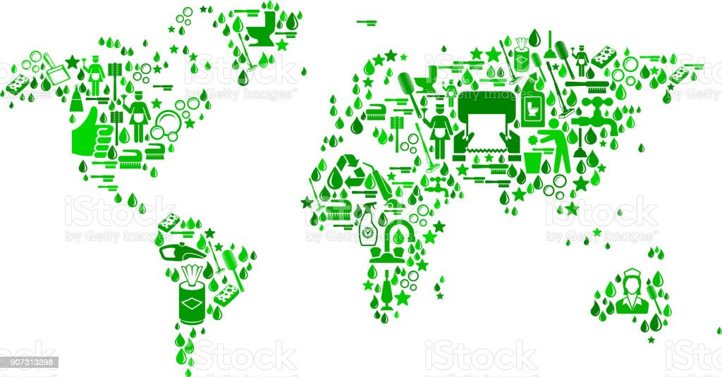 World map cleaning and chores vector icon pattern stock vector art world map cleaning and chores vector icon pattern royalty free world map cleaning and chores gumiabroncs Images