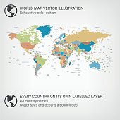World Map color edition