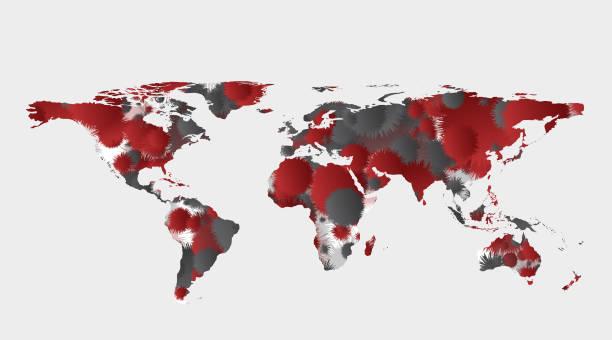 World Map Concept Design,Covic-19,Coronavirus outbreak spread,Countries where the virus has spread. Coronavirus Map,vector. World Map Concept Design,Covic-19,Coronavirus outbreak spread,Countries where the virus has spread. Coronavirus Map,vector. deathly stock illustrations