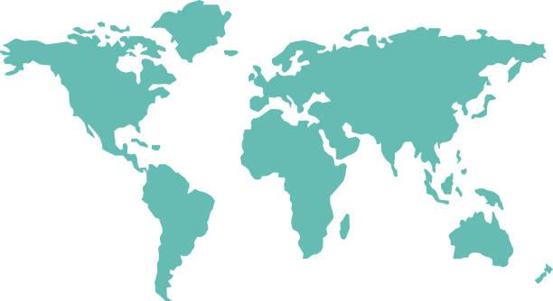Best World Map Flat Illustrations, Royalty-Free Vector ...