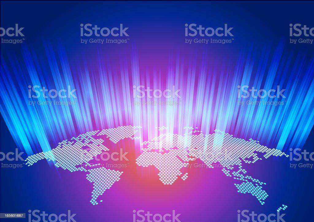 World Map dotted vector art illustration