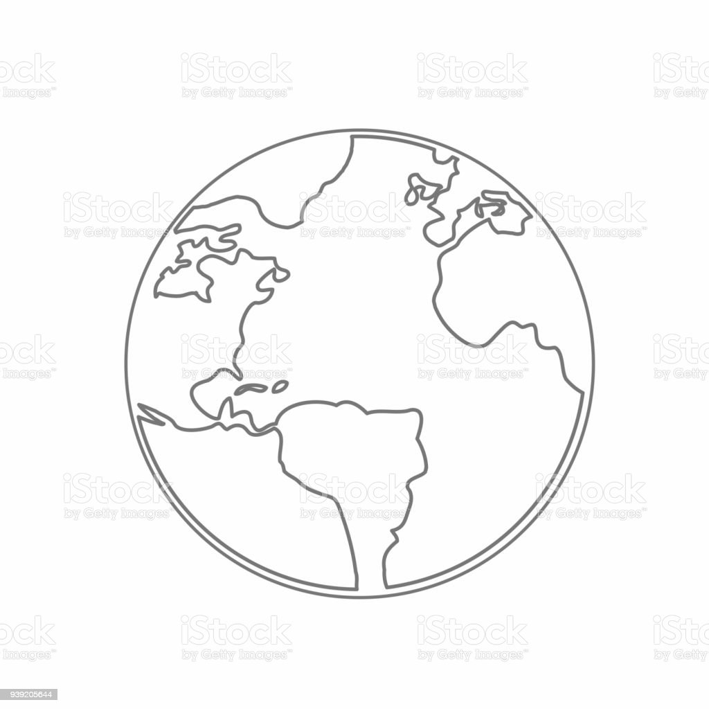 World map earth globe vector line sketched up illustrator stock world map earth globe vector line sketched up illustrator royalty free world map earth gumiabroncs Images
