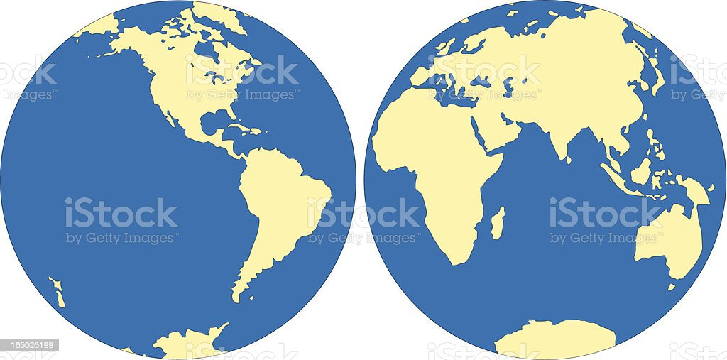 World map east and west hemisphere in vector format stock vector art world map east and west hemisphere in vector format royalty free world map east gumiabroncs Choice Image