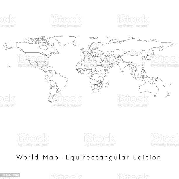 World map equirectangular edition vector id866398300?b=1&k=6&m=866398300&s=612x612&h=bs0dejmx7co5hlzh6nnawkwix5dlarillv1 dffmfgy=
