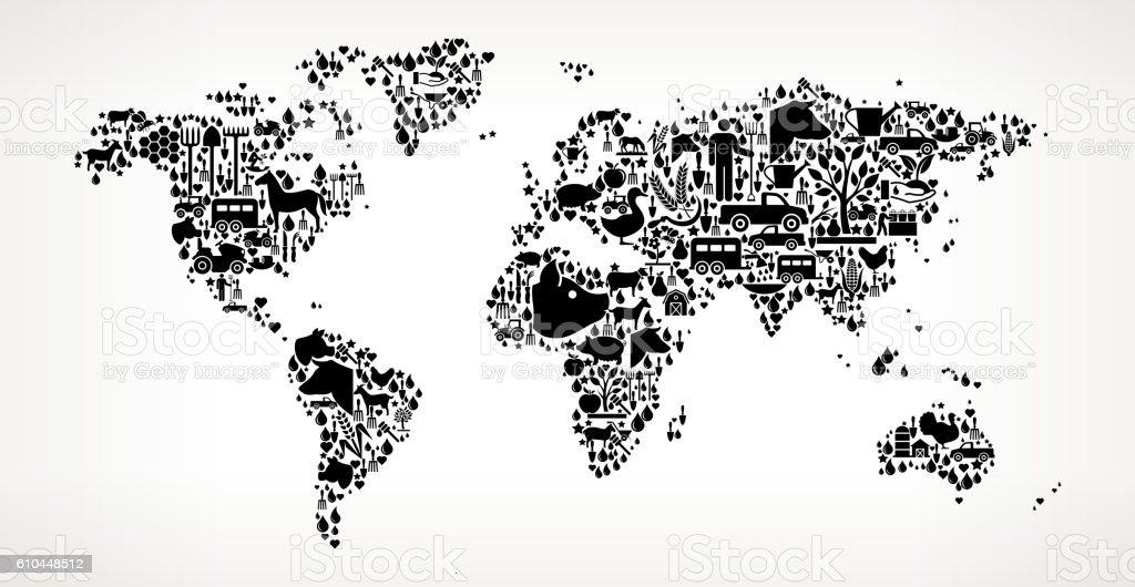 Ilustracin de world map farming and agriculture black icon pattern world map farming and agriculture black icon pattern ilustracin de world map farming and agriculture black gumiabroncs Gallery