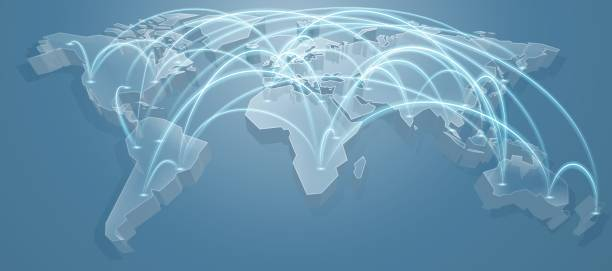 world map flight path background - uk travel stock illustrations, clip art, cartoons, & icons