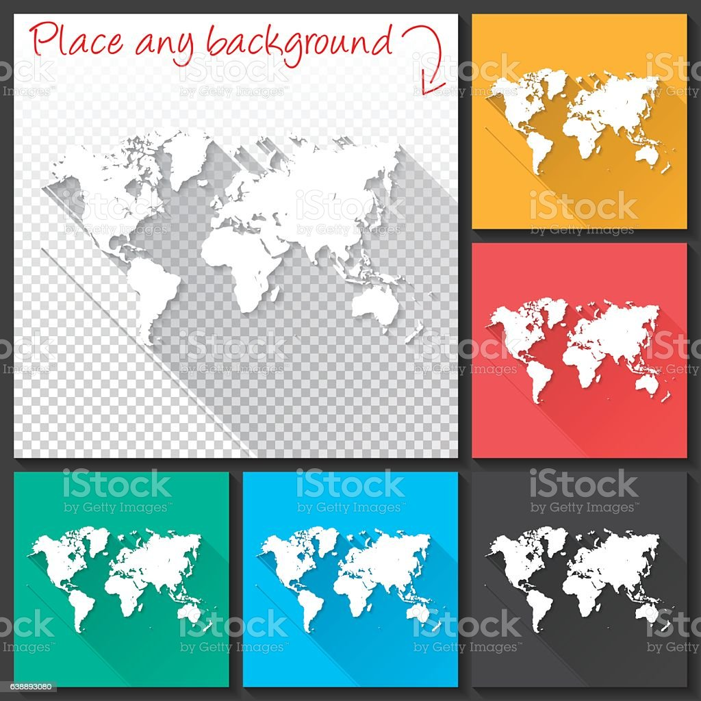 World map for design long shadow flat design arte vectorial de world map for design long shadow flat design world map for design long shadow gumiabroncs Gallery