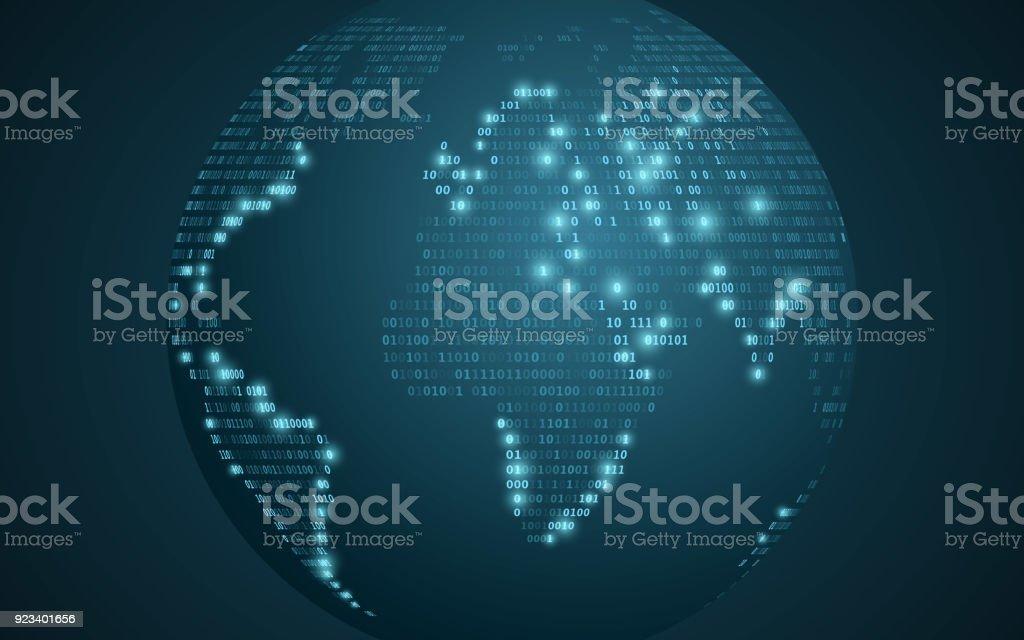 Mapa mundial de cdigo binario resumen el planeta tierra fondo mapa mundial de cdigo binario resumen el planeta tierra fondo futurista cdigo de gumiabroncs Image collections