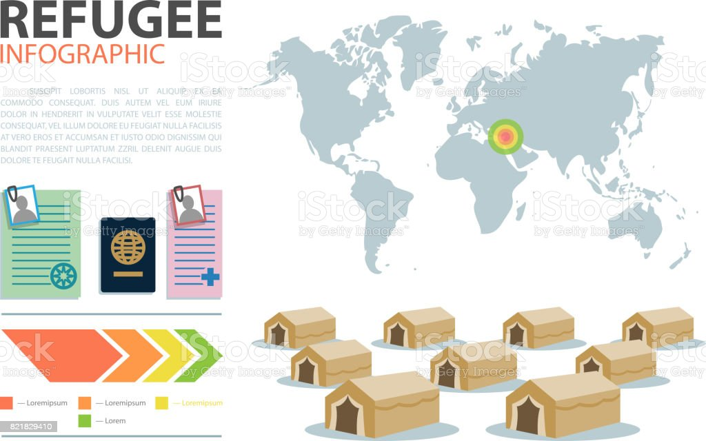 World map. Geographical infographic. Immigration routes infographic template vector art illustration