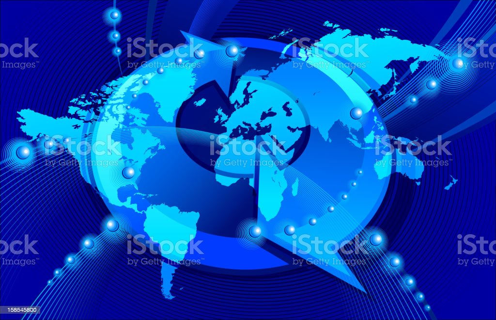 World Map global communications royalty-free stock vector art