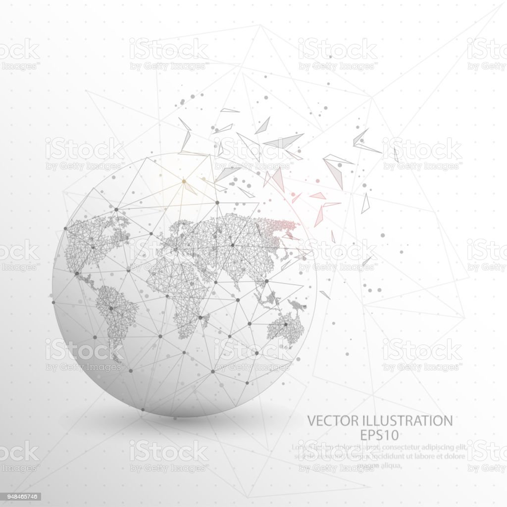 World map globe digitally drawn low poly triangle wire frame stock world map globe digitally drawn low poly triangle wire frame royalty free world map gumiabroncs Image collections