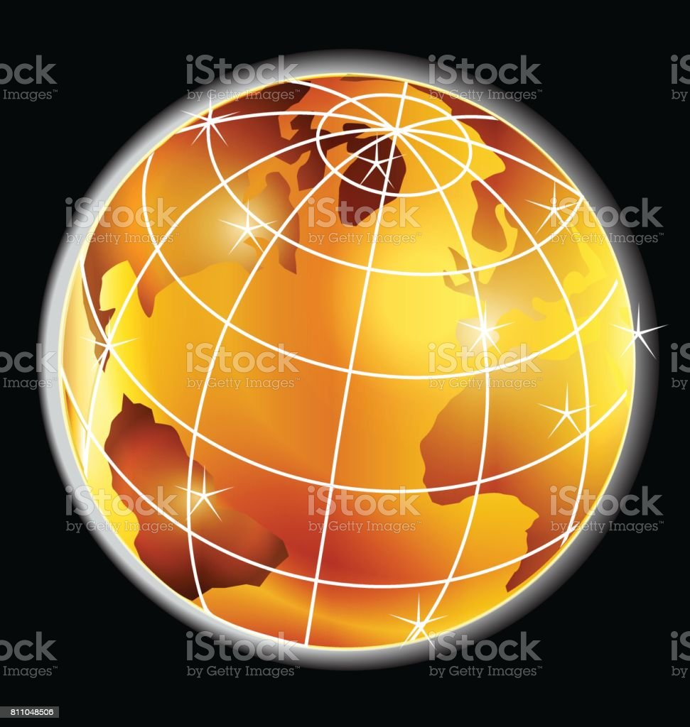 World map globe gold icon stock vector art 811048506 istock world map globe gold icon royalty free stock vector art gumiabroncs Gallery