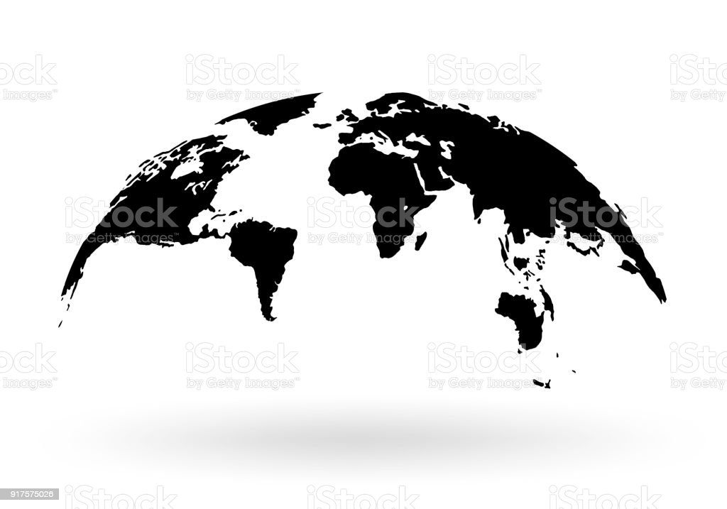 World map globe isolated on white background stock vector stock world map globe isolated on white background stock vector royalty free world map gumiabroncs Image collections