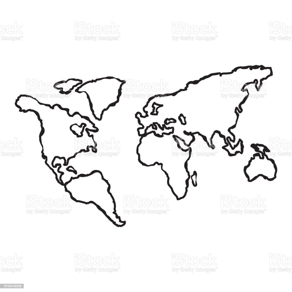 World map globe line hand sketch doodle illustration vector stock world map globe line hand sketch doodle illustration vector royalty free world map gumiabroncs