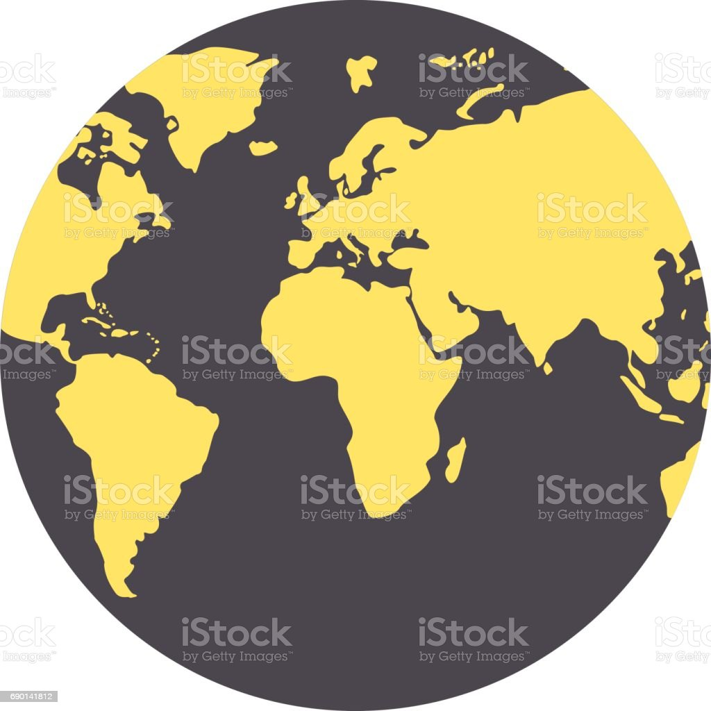 World map in globe vector copy best world map cartoon globe best world map globe made of circle shapes black and yellow royalty free world map globe gumiabroncs Images