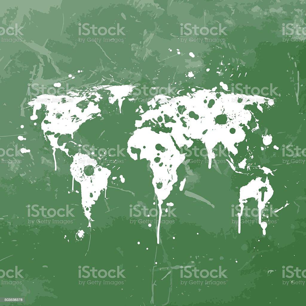 World map graffiti green splats on green wall stock vector art world map graffiti green splats on green wall royalty free world map graffiti green splats gumiabroncs Choice Image
