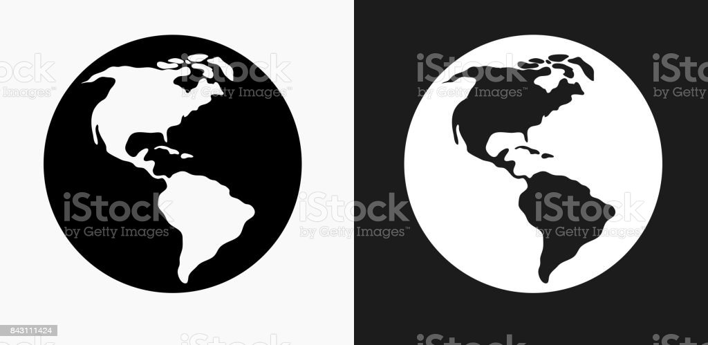 World map icon on black and white vector backgrounds stock vector world map icon on black and white vector backgrounds royalty free world map icon on gumiabroncs Gallery