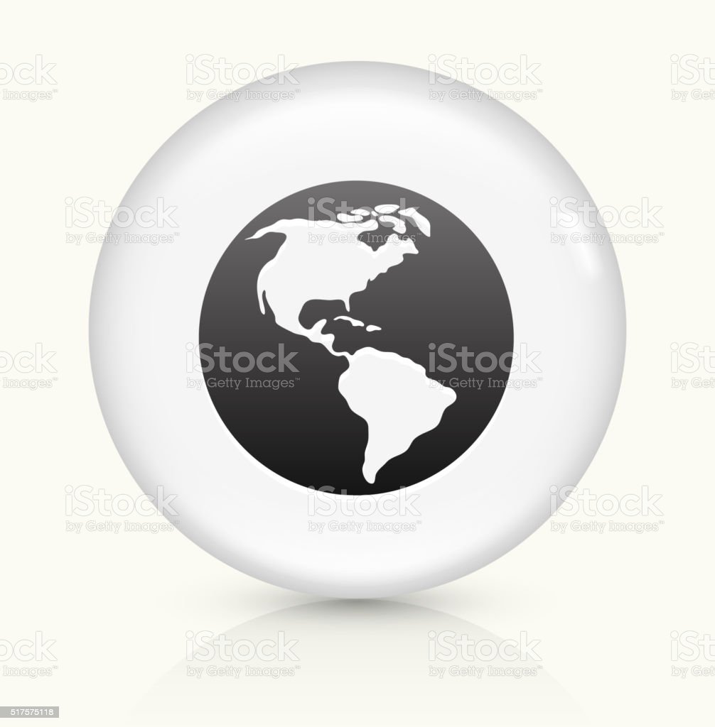 Round Globe Map.World Map Icon On White Round Vector Button Stock Vector Art More