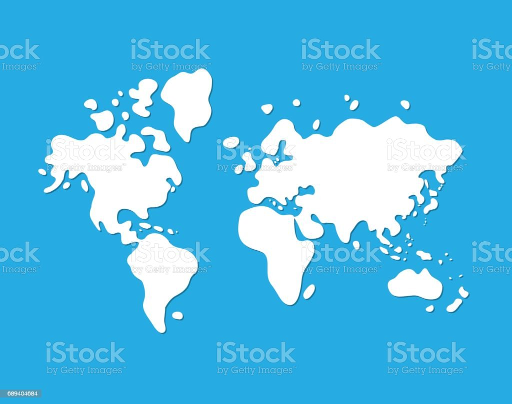 World map icon stock vector art more images of adventure 689404684 world map icon royalty free world map icon stock vector art amp more gumiabroncs Images