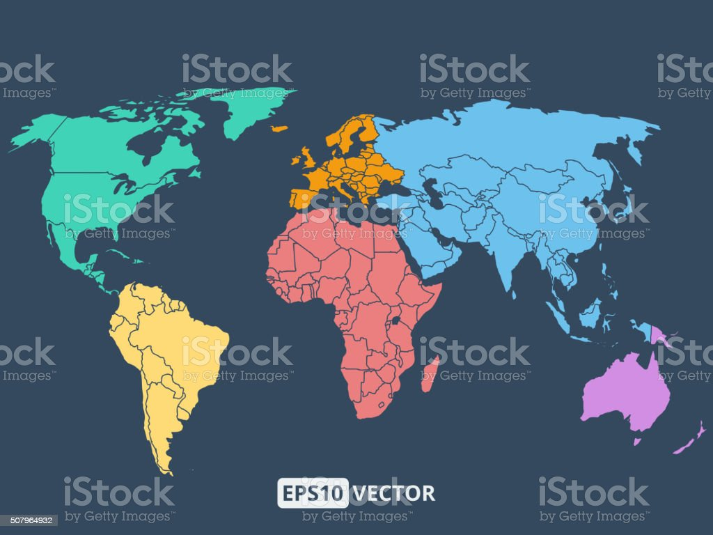 World map illustration, stock vector vector art illustration